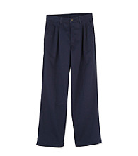 Izod Boys' 4-20 Navy Pleated Twill Pants