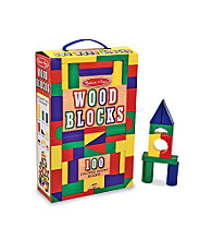 Melissa & Doug® Wood 100 Block Set