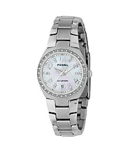 Fossil® Mother-of-Pearl Dial Glitz Watch