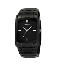 Fossil® Men's Ion Plated Stainless Steel Dress Dial Watch - Black