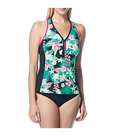 Beach House Zip Front Tankini and Side Tie Bottom
