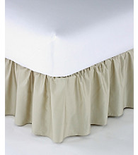 LivingQuarters Solid Color Ruffle Bed Skirt
