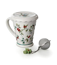 Pfaltzgraff® Winterberry Covered Mug with Tea Infuser