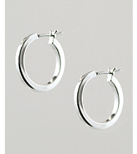 Anne Klein® Small Silvertone Hoop Earrings
