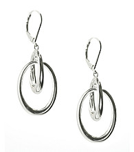 Anne Klein® Silvertone Linked Earrings