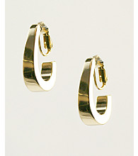 Anne Klein® Goldtone Clip Earrings