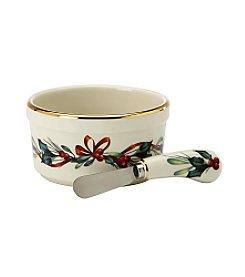 Lenox® Winter Greetings® Dip Bowl with Spreader