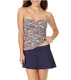 Anne Cole Twist Bandini Top and Classic Swim Skirt
