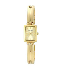 Anne Klein® Women's Goldtone Solid Link Bracelet Watch