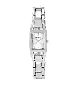 Anne Klein® Women's Silvertone Link Bracelet Watch