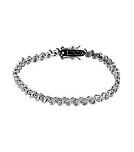 .25 ct. t.w. Diamond & Sterling Silver 'S' Tennis Bracelet