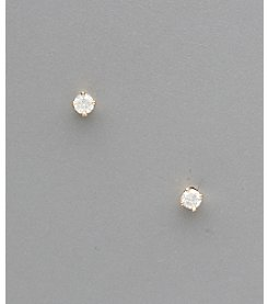 14K Gold .125 ct. t.w. Diamond Stud Earrings