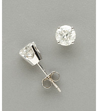 14K White Gold 1.0 ct. t.w. Diamond Stud Earrings