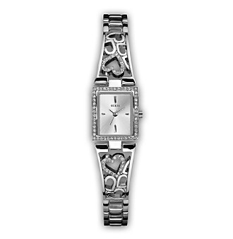 GUESS Women's Heart Bracelet Watch
