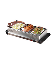 Nostalgia Electrics® Mini 3-Station Stainless Steel Buffet Server