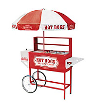Nostalgia Electrics® Carnival Hot Dog Cart & Umbrella