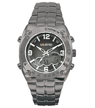 Unlisted by Kenneth Cole® Men's Gunmetal IP Ana-Digital Bracelet Watch