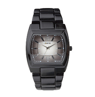 Unlisted by Kenneth Cole® Men's Gunmetal IP Degraday Three Hand Dial Watch