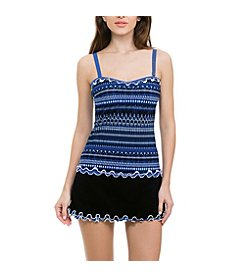 Profile by Gottex D Cup Tankini Top and Skirted Bottoms