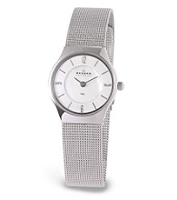 Skagen Denmark Women's Silver & Mother-of-Pearl Watch