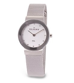 Skagen Denmark Women's Mesh & Glitz Watch