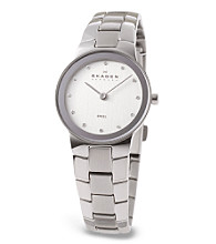Skagen Denmark Women's Silver Steel Link Watch