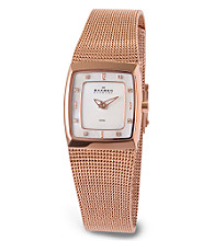 Skagen Denmark Women's Square Slim Rose Gold Watch