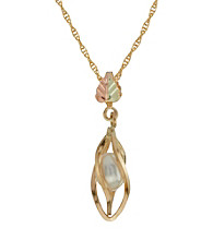 Black Hills Gold 10K Caged Pearl Pendant