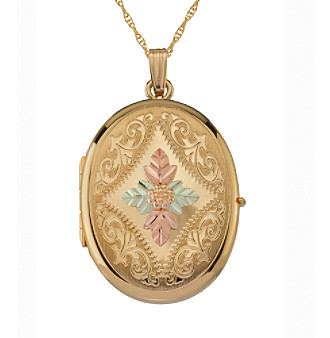 Black Hills Gold Tricolor Gold-Filled Four Picture Locket
