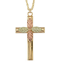 Black Hills Gold 10K Cross Pendant