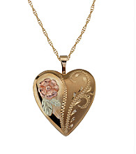 Black Hills Gold Tricolor Gold-Filled Heart Locket
