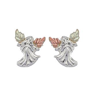 Black Hills Gold Tricolor Angel Earrings