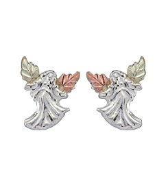 Black Hills Gold Tricolor Angel Earrings