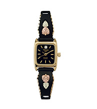 Black Hills Gold Tricolor Women's Black Powder-Coated Watch