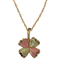 Black Hills Gold 10K Four Leaf Clover Pendant