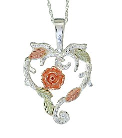 Black Hills Gold Dakota Rose Heart Pendant