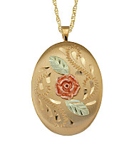 Black Hills Gold Gold-Filled Dakota Rose Locket