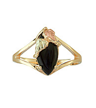 Black Hills Gold 10K Onyx Ring