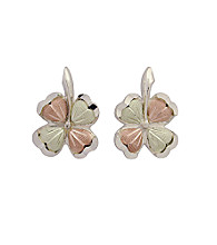 Black Hills Gold Four Leaf Clover Earrings
