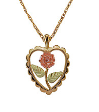 Black Hills Gold 10K Dakota Rose Pendant
