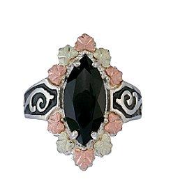 Black Hills Gold Antiqued Onyx Ring