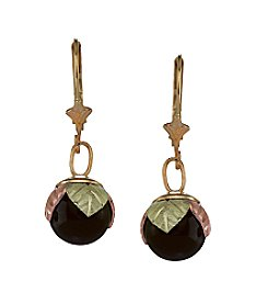Black Hills Gold 10K Onyx Ball Earrings
