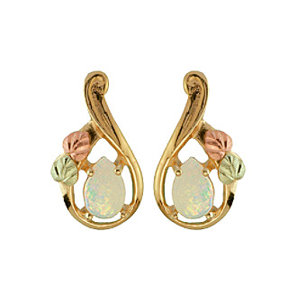 Black Hills Gold 10K Opal Earrings