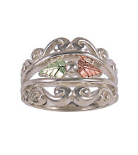 Black Hills Gold Filigree Band Ring