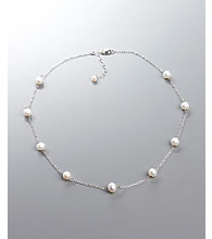 Freshwater Pearl Tin Cup Necklace