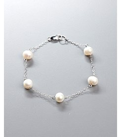 Freshwater Pearl Tin Cup Bracelet