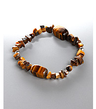 Women's Genuine Stone Tiger's Eye Stretch Bracelet