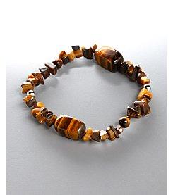 Women's Genuine Stone Tiger's Eye Stretch Bracelet