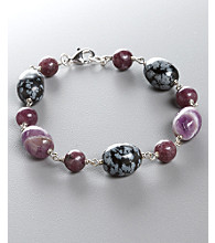 Women's Genuine Stone Purple Bracelet