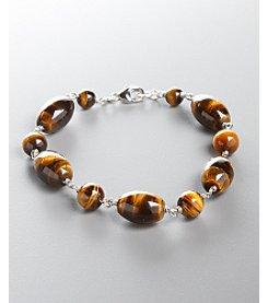 Women's Genuine Stone Tiger-Eye Bracelet